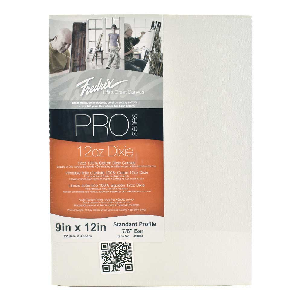 Fredrix Pro Stretched Canvas Standard 9X12