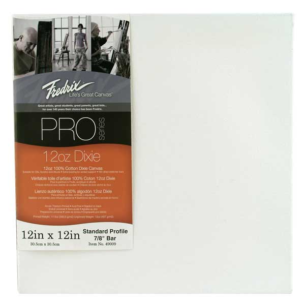 Fredrix Pro Stretched Canvas Standard 12X12