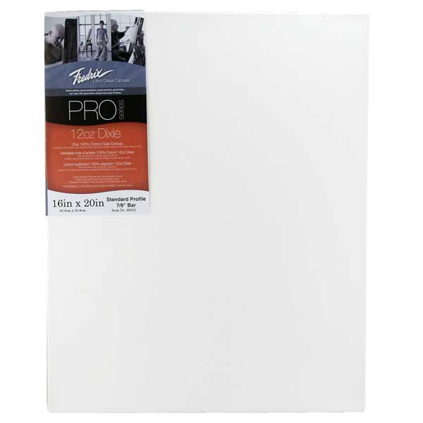 Fredrix Pro Stretched Canvas Standard 16X20