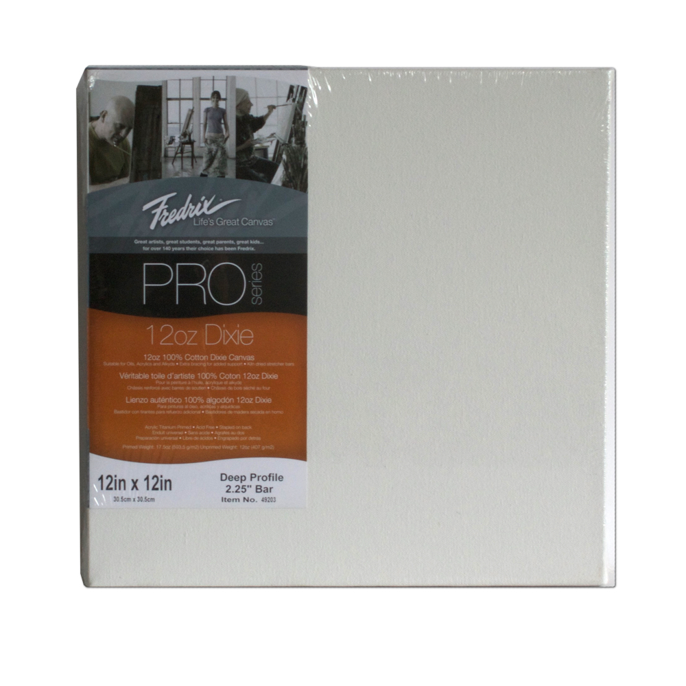Fredrix Pro Stretched Canvas Deep 12X12