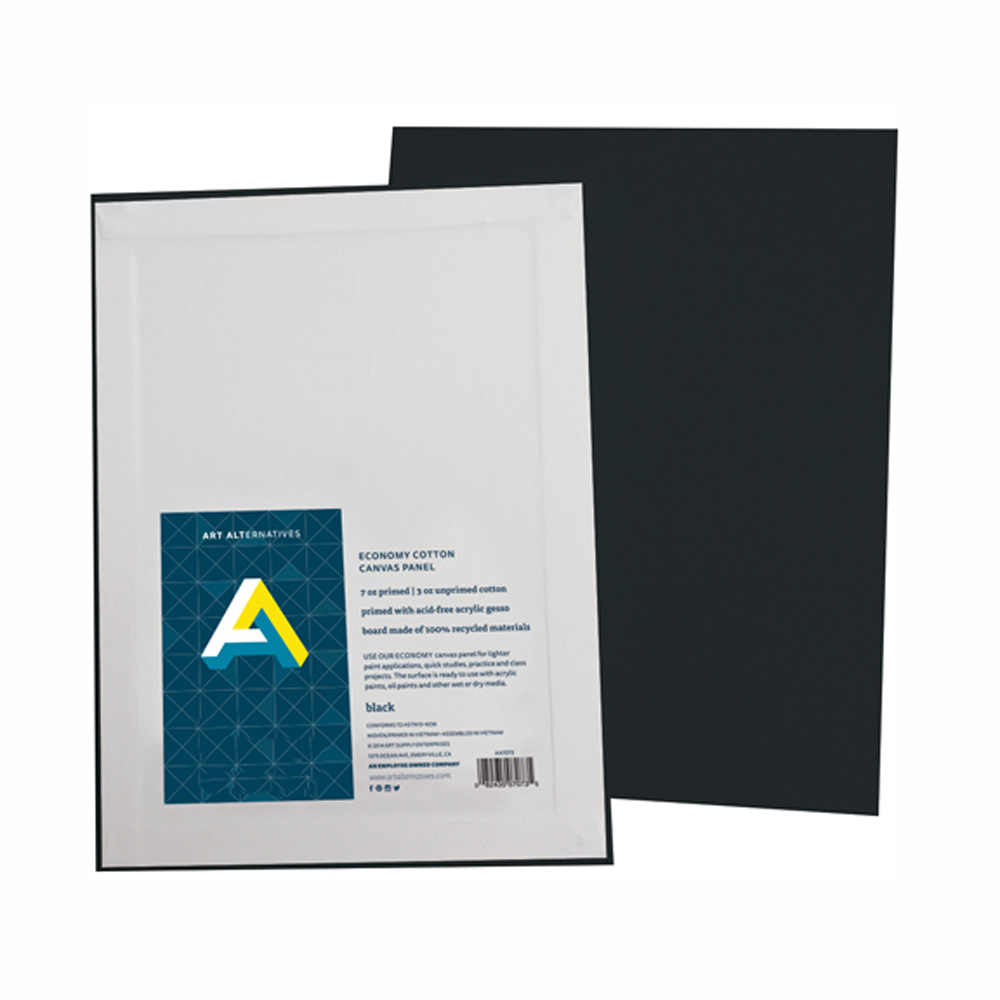 Aa Super Value Canvas Panel Black 8X10 Pk/6