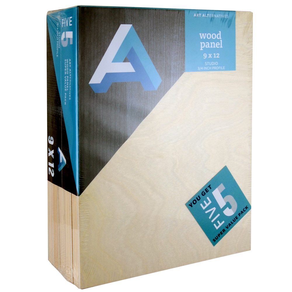 Aa Super Value Wood Panel Studio 9X12 Pk/5