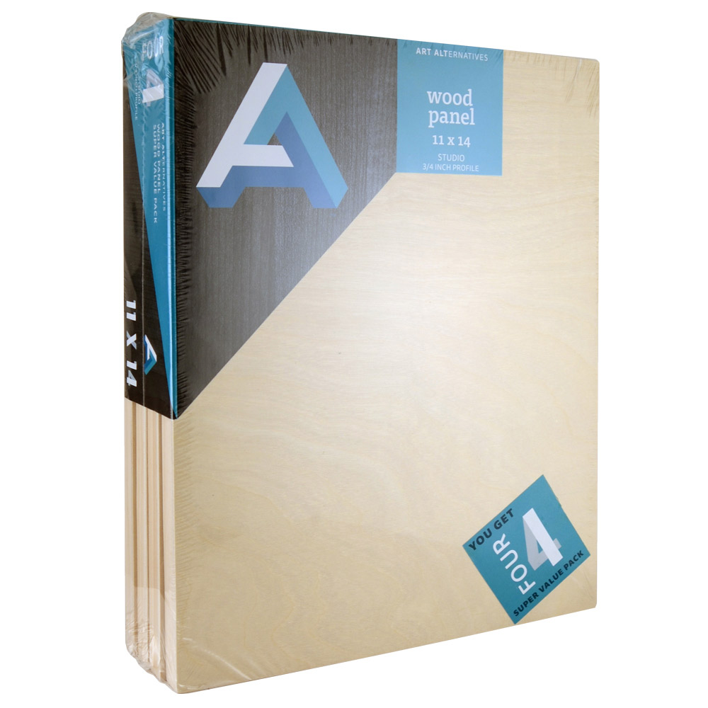 Aa Super Value Wood Panel Studio 11X14 Pk/4