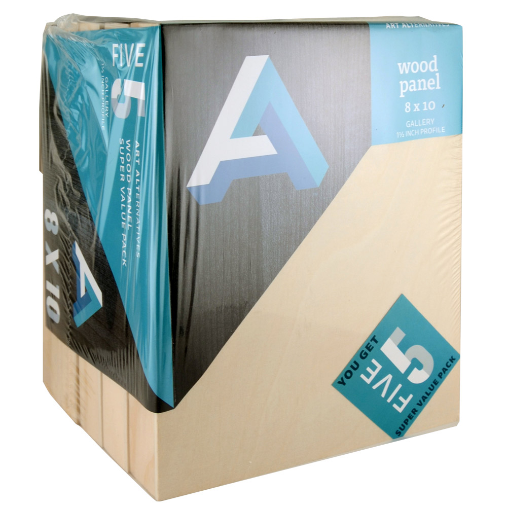 Aa Super Value Wood Panel Gallery 8X10 Pk/5