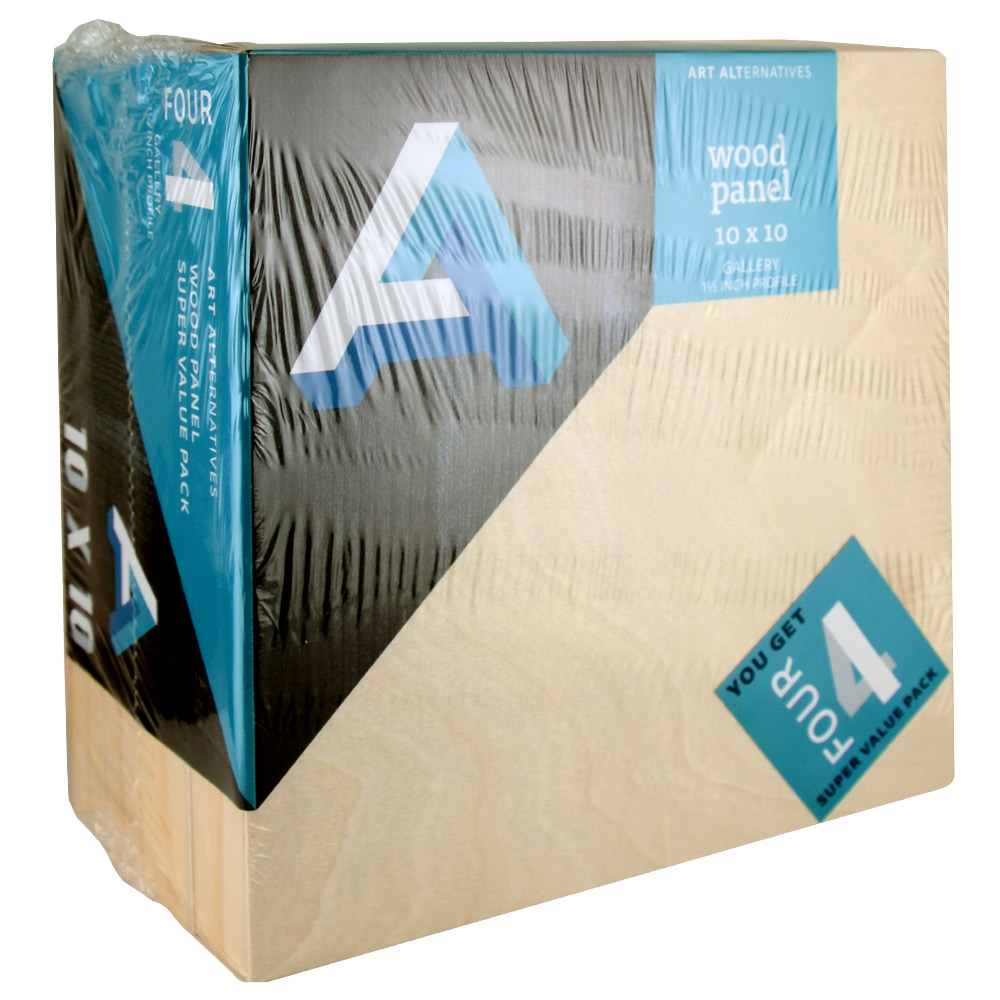 Aa Super Value Wood Panel Gallery 10X10 Pk/4