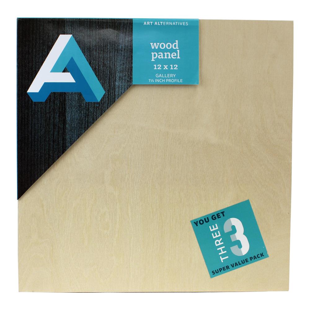 AA Super Value Wood Panel Gallery 12X12 Pk/3
