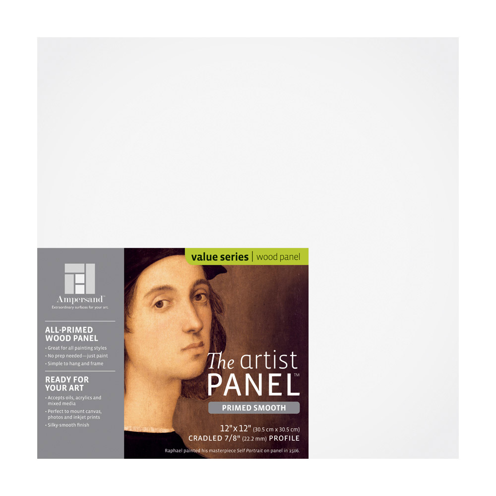 Artist Panel Primed Smooth 7/8 Inch 12X12