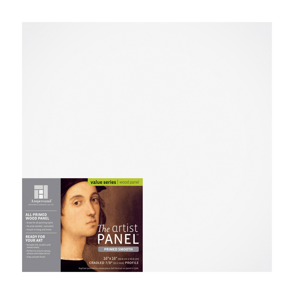 Artist Panel Primed Smooth 7/8 Inch 16X16