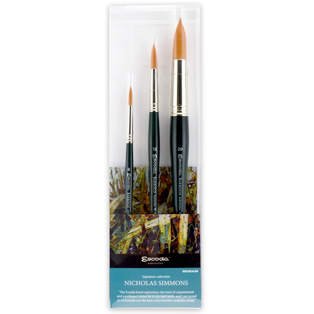 Escoda Brush 8604 Nicholas Simmons Set 1