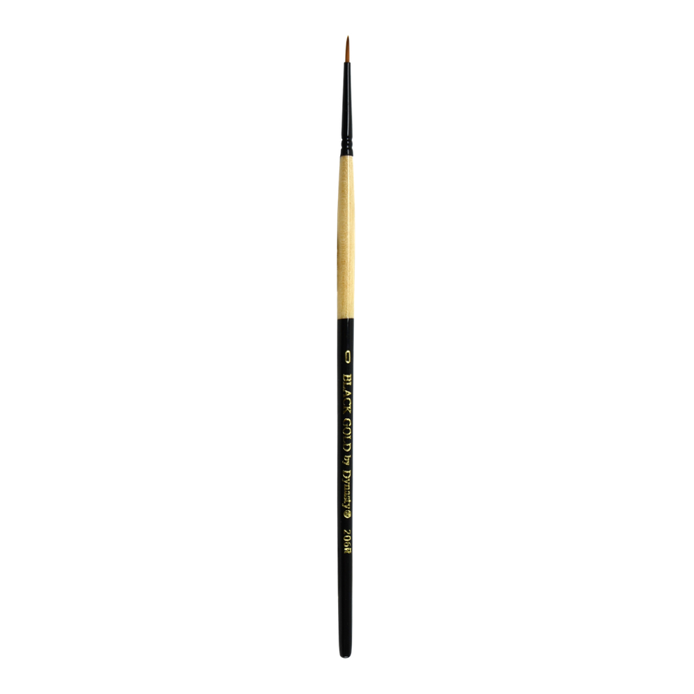 Black Gold Synthetic Sable 206R Round 0