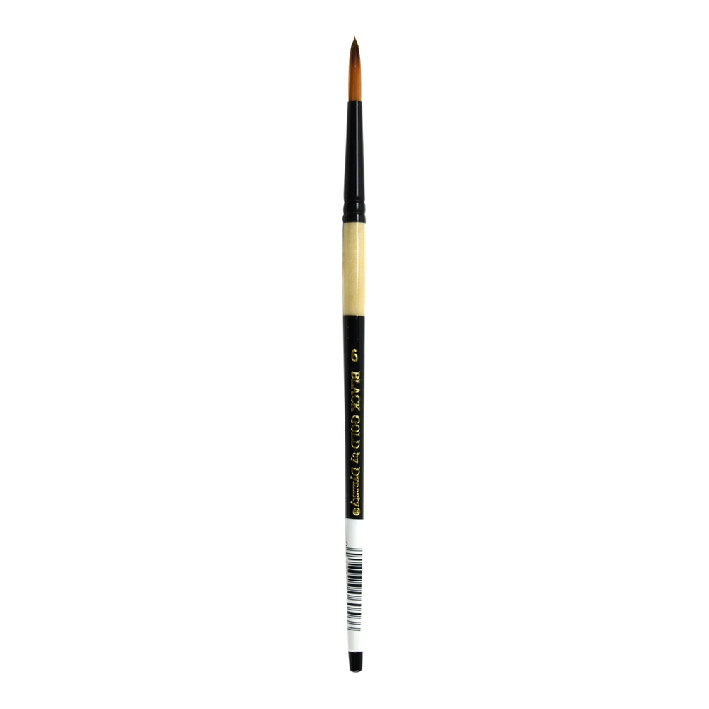 Black Gold Synthetic Sable 206R Round 6