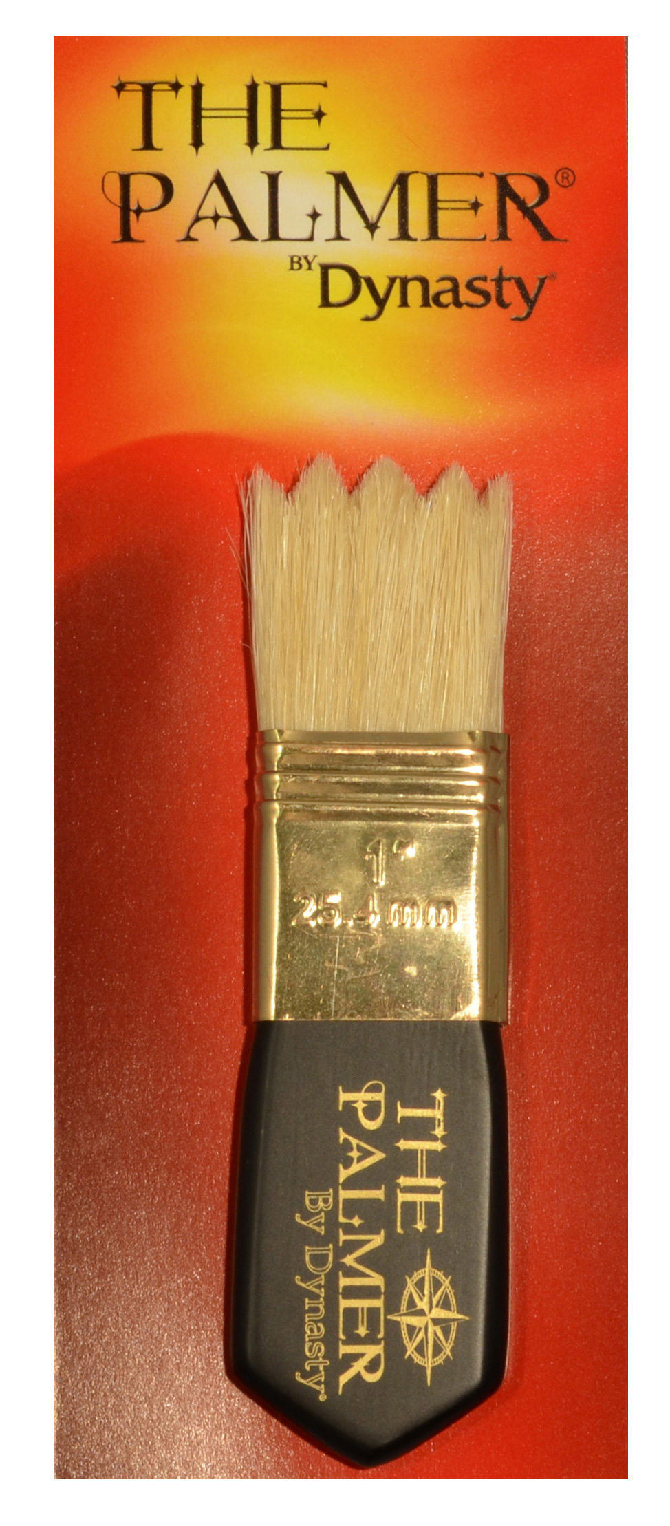 Dynasty Palmer Brush White Bristle 1In Wave