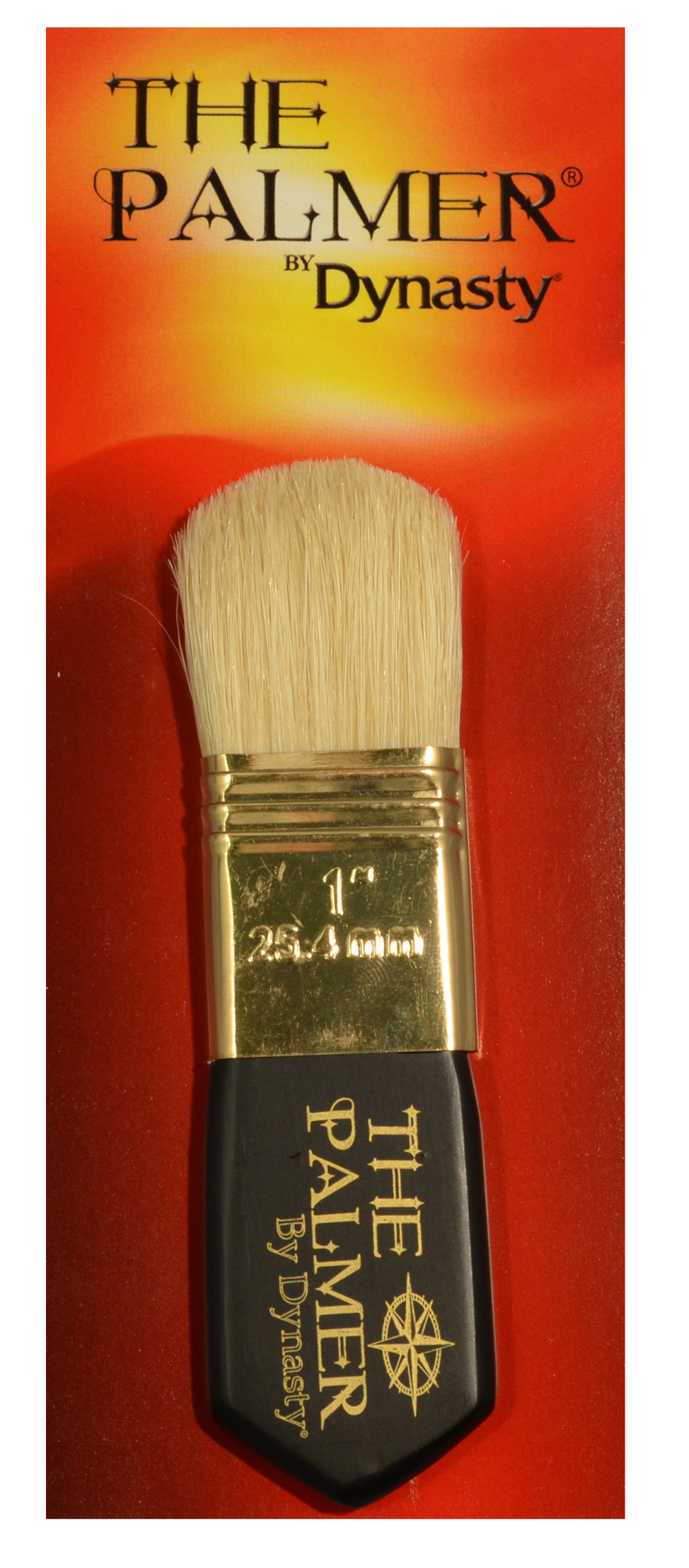 Dynasty Palmer Brush White Bristle 1In Filbrt