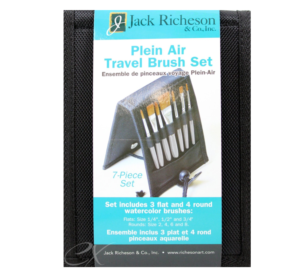 Richeson Plein Air Travel Oil Brush Set
