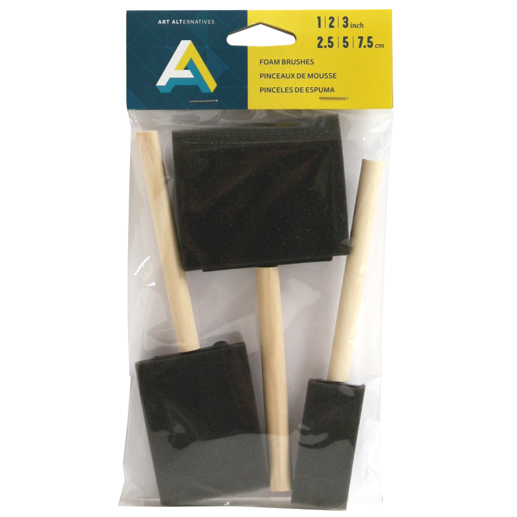 Aa Foam Brush Set Of 3