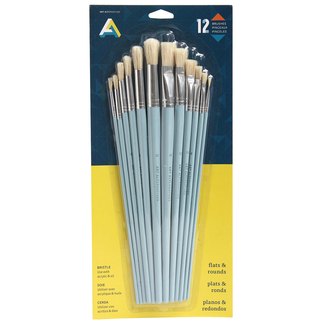 AA Brush Bristle Long 12 Set
