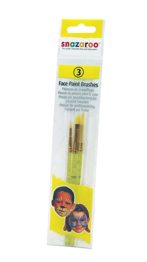 Snazaroo Face Painting Brush Set Of 3