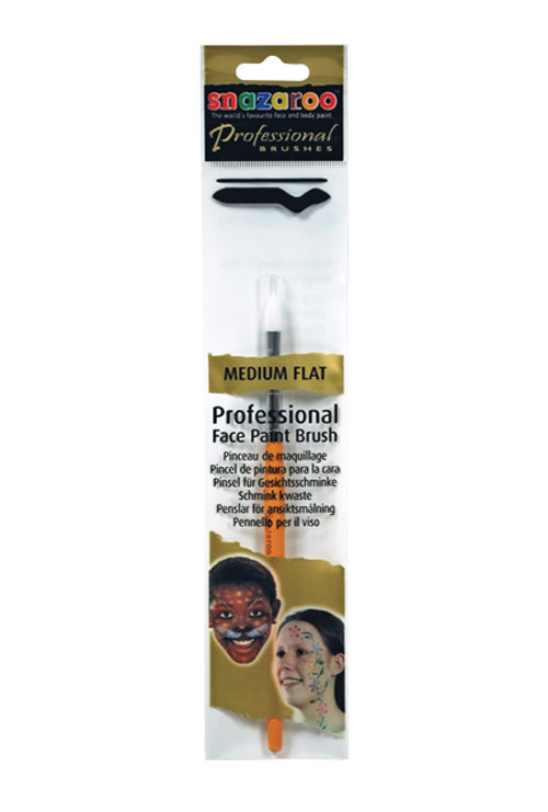 Snazaroo Pro Face Painting Brush Medium Flat