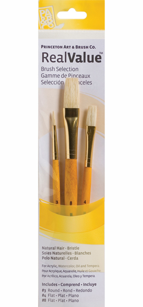 Brush Set 9103 3-Piece Natural Bristle