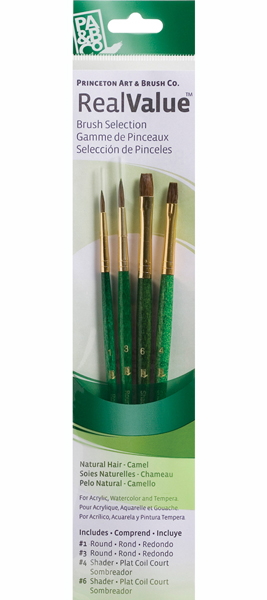 Princeton Brush Set 9110 4-Pc Camel Hair