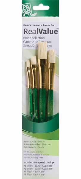 Princeton Brush Set 9112 4-Pc Natural Bristle