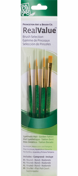 Brush Set 9115 4-Piece Gold Taklon