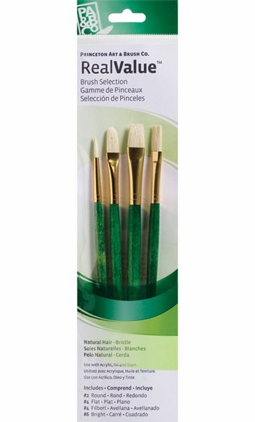 Princeton Brush Set 9118 4-Pc Lh Natrl Bristl