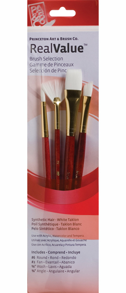 Princeton Brush Set 9120 4-Pc White Taklon