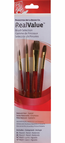Brush Set 9121 4-Piece Camel Hair