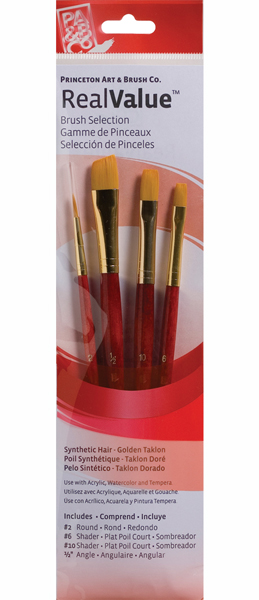 Princeton Brush Set 9123 4-Pc Gold Taklon