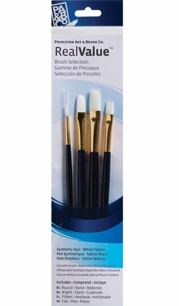Princeton Brush Set 9130 4-Pc Lh White Taklon
