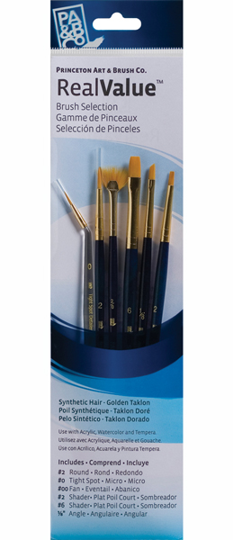 Princeton Brush Set 9133 6-Pc Gold Taklon