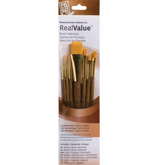 Princeton Brush Set 9143 7-Pc Gold Taklon