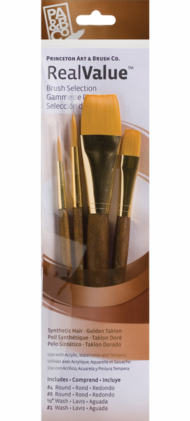 Princeton Brush Set 9146 4-Pc Gold Taklon