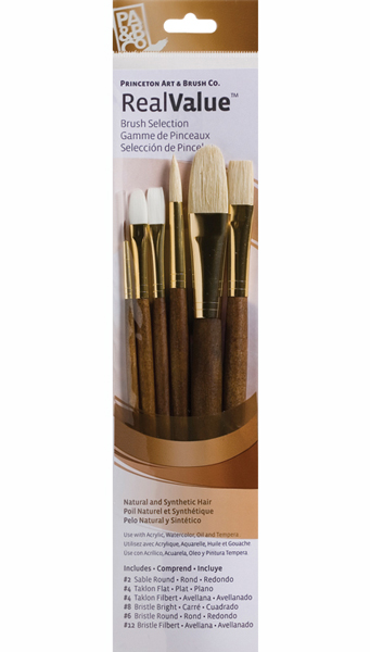 Princeton Brush Set 9148 6-Pc Brstl/Sable/Tak