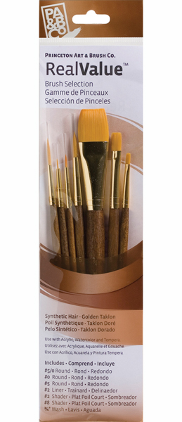 Princeton Brush Set 9141 7-Pc Gold Taklon