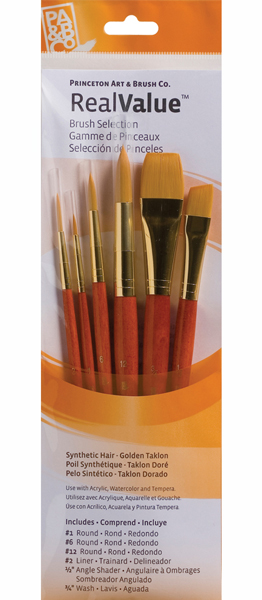 Brush Set 9153 6-Piece Gold Taklon