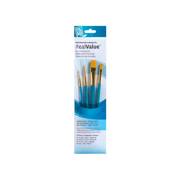 Princeton Brush Set 9171 4-Pc Gold Taklon