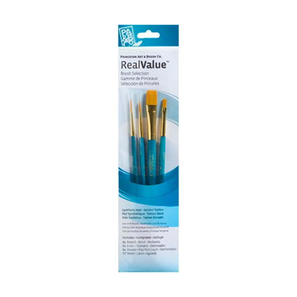 Princeton Brush Set 9172 4-Pc Gold Taklon