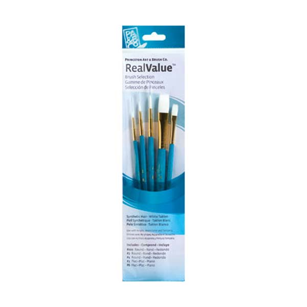 Princeton Brush Set 9174 5-Pc White Taklon
