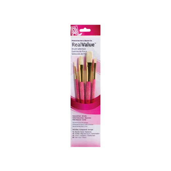 Brush Set 9183 4-Piece Natural Bristle