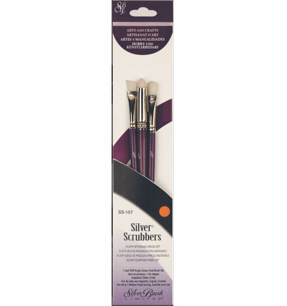 Silver Scrubber Brush Set Mixed