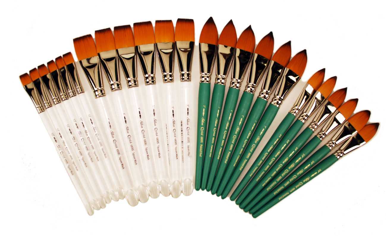 Crystal Taklon Class Pack Brushes 24 Piece