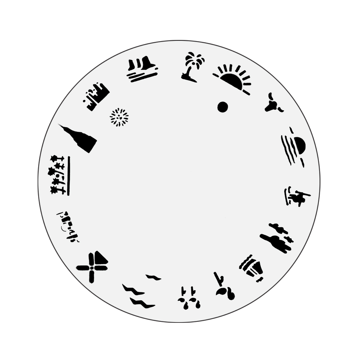 Nail Master Design Wheel: Sun Fun