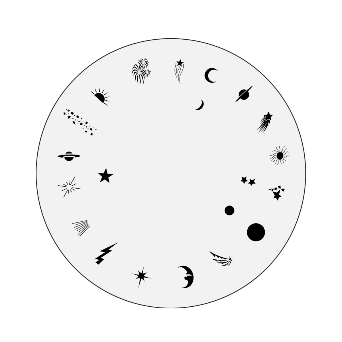 Nail Master Design Wheel: Cosmos
