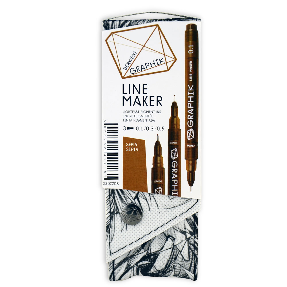 Graphik Line Maker Set Of 3 Sepia