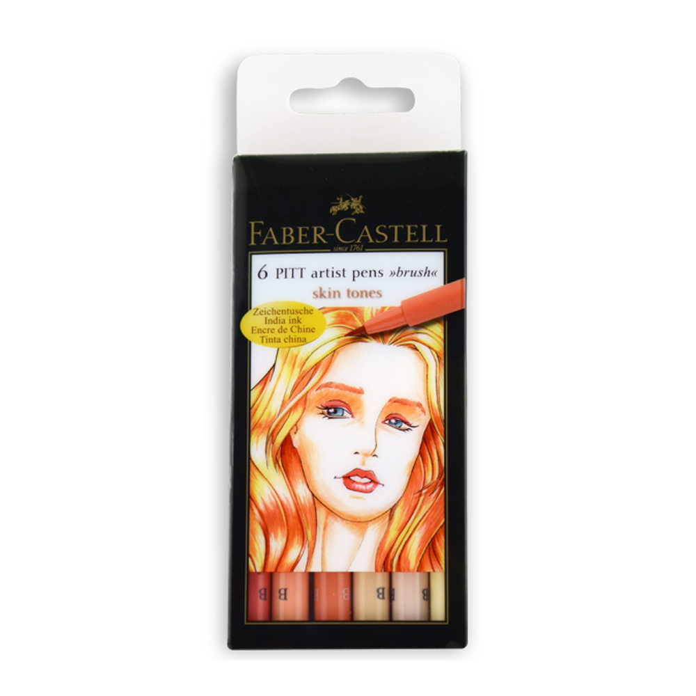 Pitt Artists Pen Set 6 Skin Tones