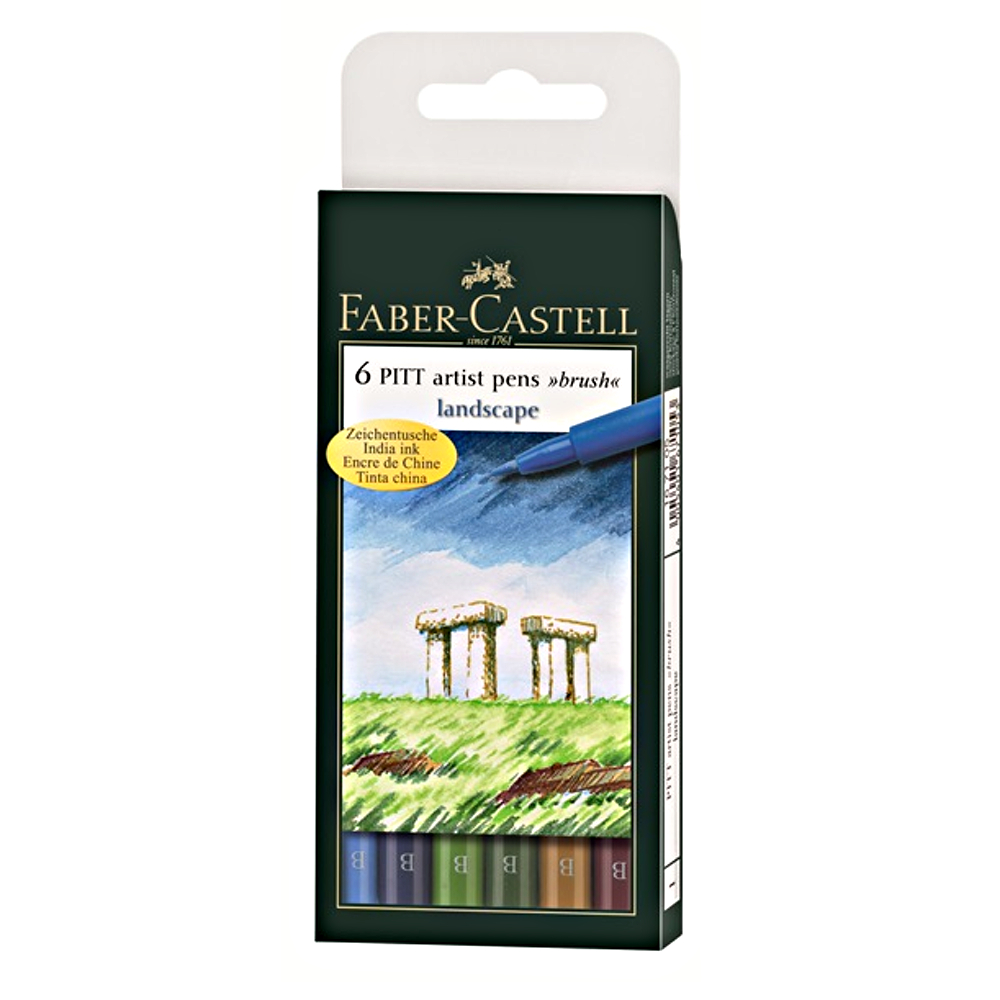 Pitt Artists Pen Set 6 Landscape Colors