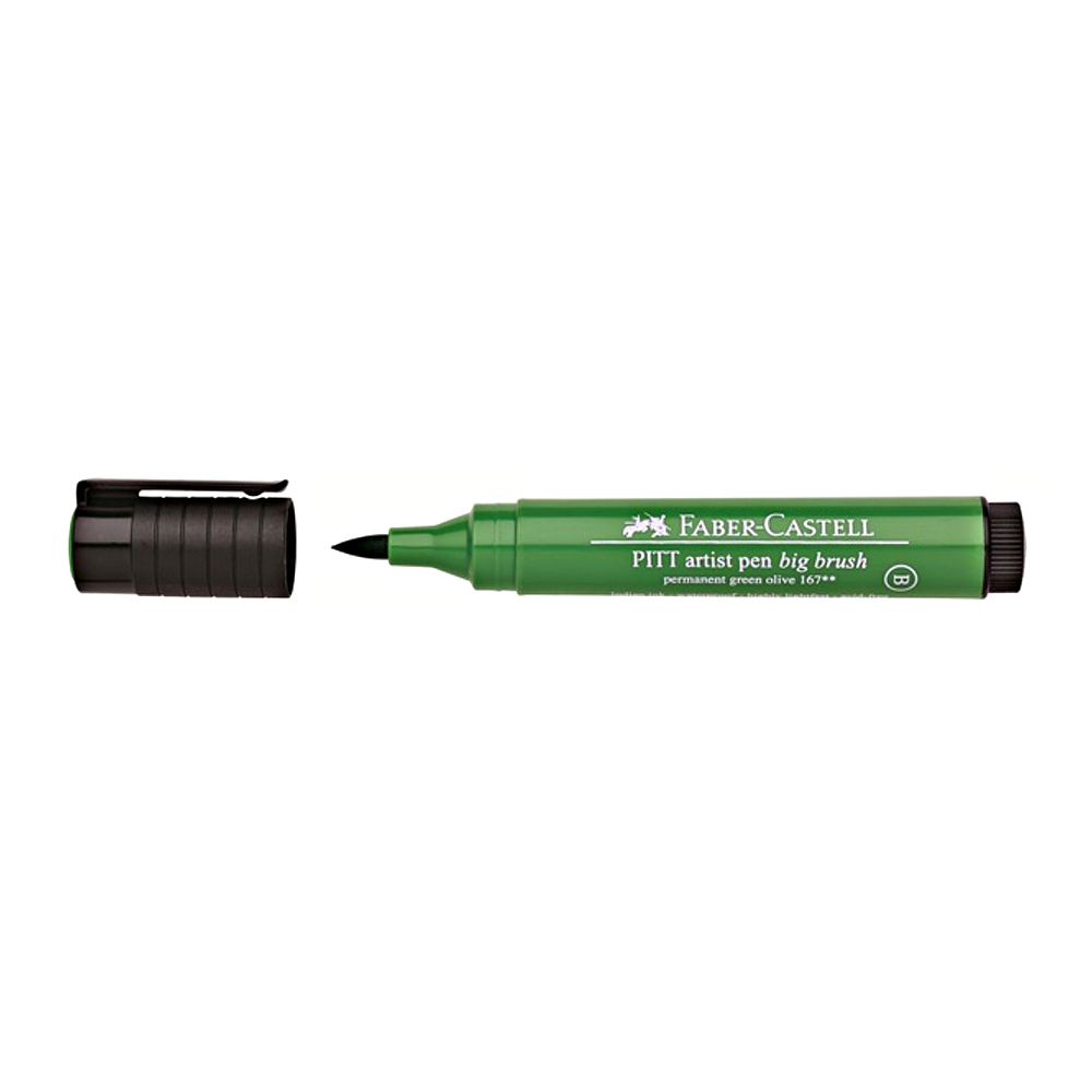 Pitt Big Brush Pen 167 Permanent Green Olive