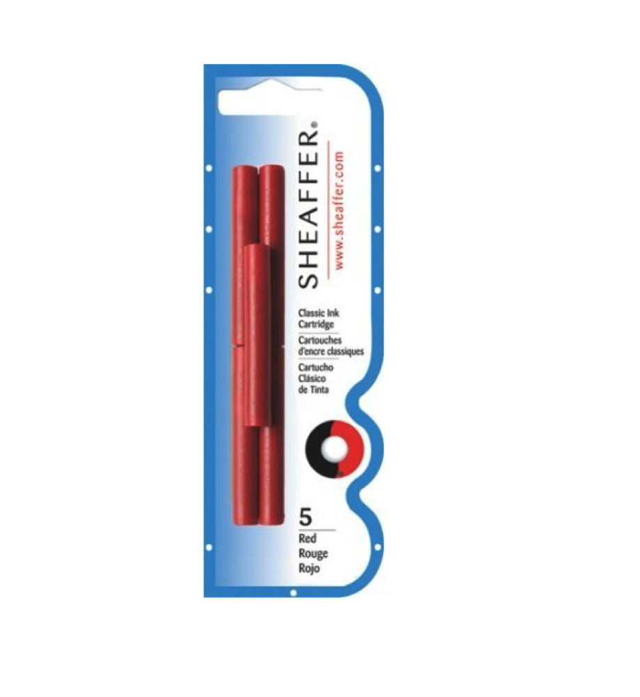 Sheaffer Skrip 5 Ink Cartridges Red